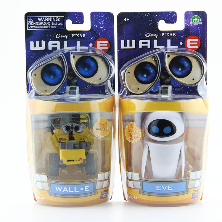 Anitoy Group Free Shipping Wall-E Robot Wall E  EVE PVC Action Figure Collection Model Toys Dolls 6cm 2pcs/lot