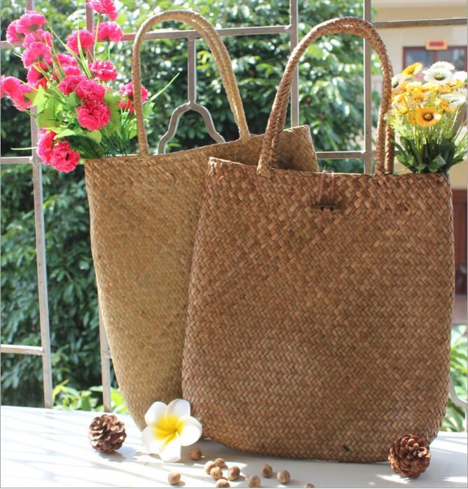 Kinesisk Immateriell Kulturarv Willow Straw Bag Stor Stro Handväskor - Väskor för bagage och resor - Foto 4