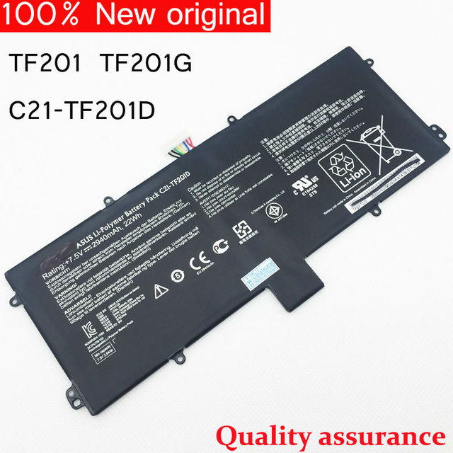 Original Laptop Battery for ASUS Transformer Prime TF201 TF201G TF201D C21-TF201D Tablet 2ICP4/78/102