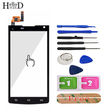 4.5 TouchScreen Dello Schermo di Tocco Del Telefono Mobile Per Philips S388 S 388 di Tocco Di Vetro Frontale di Vetro Digitizer Pannello Lente del Sensore 3 M Colla
