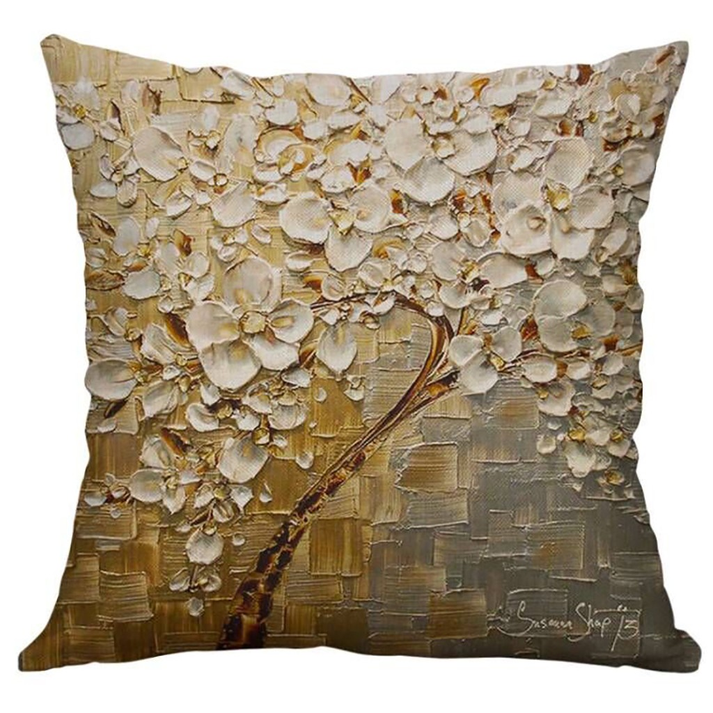 Image 3 - Simple Linen Creative Lovely Pillow Cover Car Pillow Covers Square 45cm*45cm Polyester Pillowcase Home Decorative High Quality-in Cushion Cover from Home & Garden