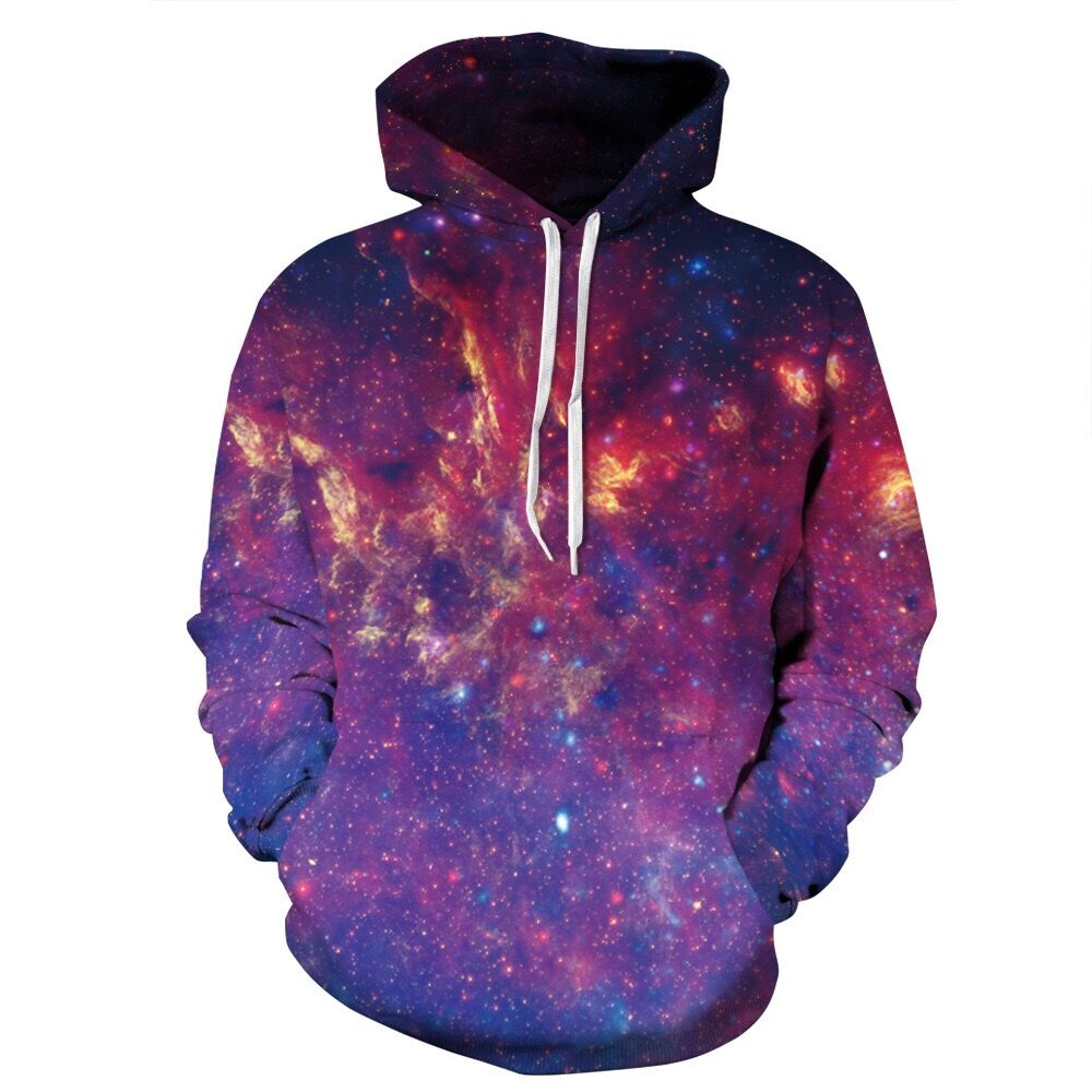 Hot Sales Couples Sweatshirts Clothing Nebula Stars Space Galaxy 3D Paint Woman Hoodies Winter Pullovers Hoody Tops