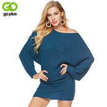 GOPLUS 2019 Spring Winter Knitted Long Sweater Women O Neck Sleeve Pullovers Casual Plus Size Befree Loose Female