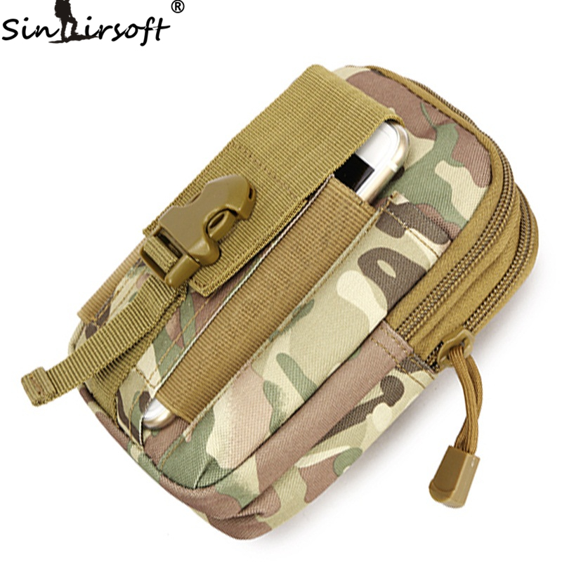 Hunting Waist Bags Molle Tactical Waist Bags Sport Pouch Purse Phone Case For Iphone 6 Plus SAMSUNG Note 2 3 4 Nylon