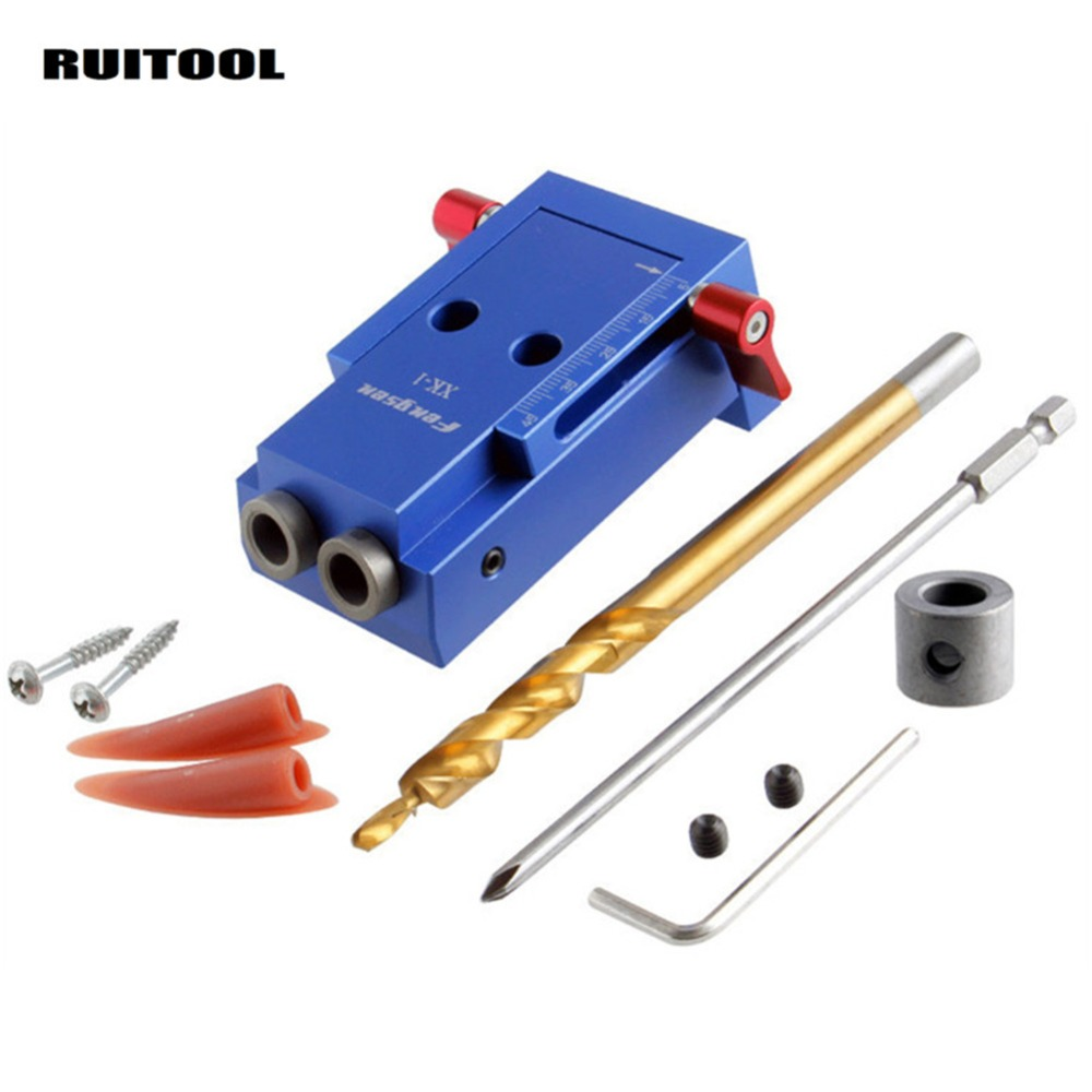 Mini Pocket Hole Jig Kit System With Drill Bit Screwdriver For WoodWorking Joinery Tool Sets Hand