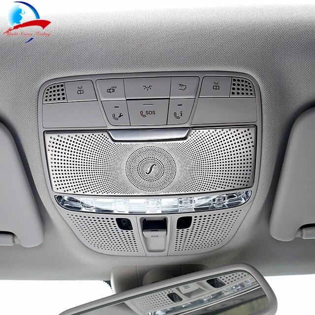 Diseño de coches caja de gafas de Techo Luz de lectura cubierta decorativa molduras interiores para Benz W205 C clase GLC clase C180 c200