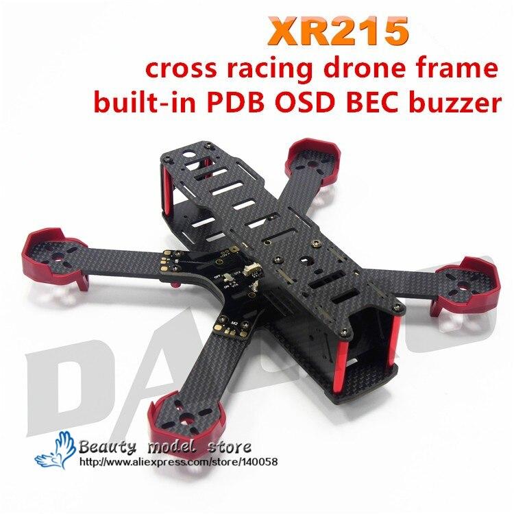 DALRC XR215 FPV cross racing drone telaio in fibra di carbonio Built-in PDB centro consiglio OSD BEC buzzer xr