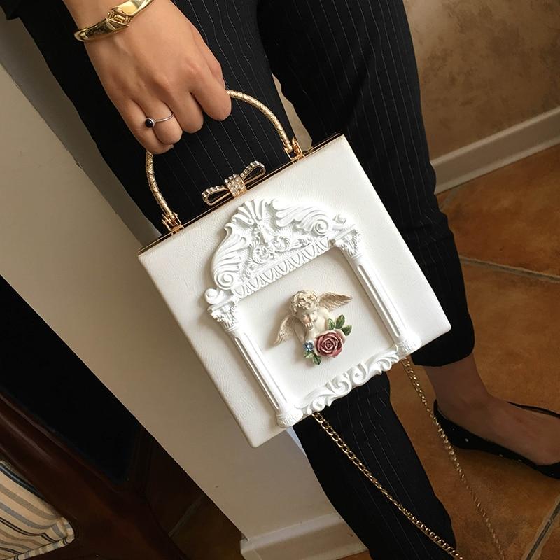 2018 NEW Rose 3D Palace Sculpture Frame Bag Luxury Handbags Women Party Bags Designer Lady Cute Shoulder Messenger Bag Sac Tote 2
