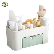 Msjo caja de maquillaje organizador joyería collar esmalte de uñas pendiente plástico caja de almacenamiento organizador de escritorio para mujer cosméticos