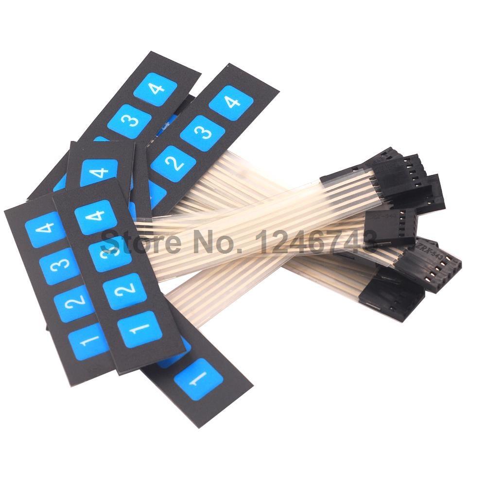 1pcs 1x4 4 Key Matrix Membrane Switch Keypad Keyboard Control Panel 10pcs Ams1117 33v 1a Voltage Regulator Electrodragon 14 1 Row Button Microcontroller Expansion