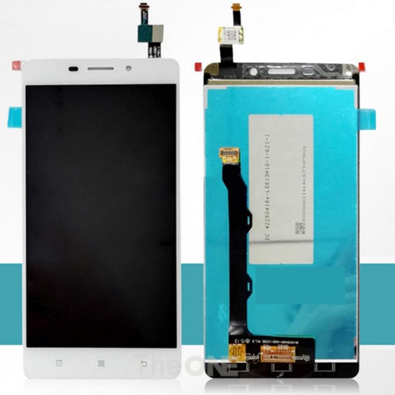 imágenes para 5.5 pulgadas de lenovo a5600 lcd pantalla + touch screen asamblea digitalizador de pantalla original de reemplazo para lenovo a5600 teléfono celular