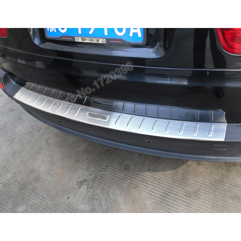 Stainless steel rear bumper protector step panel boot cover sill plate trunk trim accessories for 2008 2009 2010 BMW X5  E70
