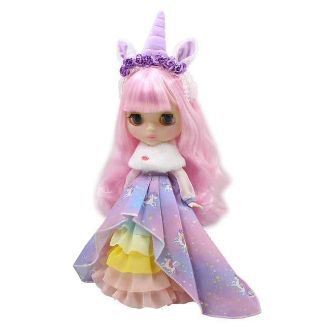 Neo Blythe Doll Unicorn Suit With Headdress & Shoes