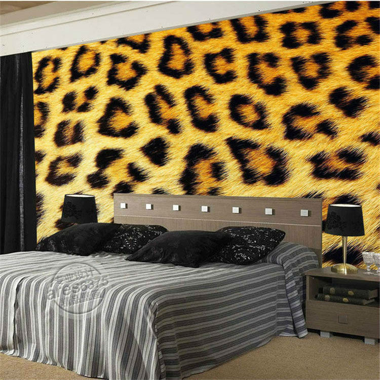 fashion leopard print wallpaper 3d photo wallpaper custom wild animal
