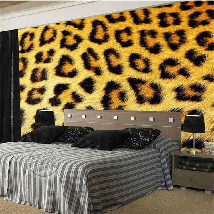 Fashion Leopard Print Wallpaper 3d Photo Wallpaper Custom Wild Animal Mural Painting Room Decor Large Wall Art Kid Room Bedroom 3d Photo Wallpaper Customphoto Wallpaper Aliexpress