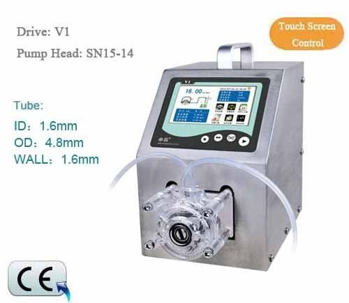 Peristaltic Pump V1 Dispensing 1 channel SN15-14 0.088 - 132 ml/min CE Certification One Year Warranty industrial peristaltic pump n6 3l 0 211 3600 ml min 0 1 600 rpm rs485