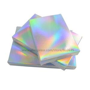 Image 5 - Голографическая коробка для подарков, 50 шт., вечерние коробки для бумаги, чехол для лазерной карты, коробки для подарков, косметика, посылка, коробки для конфет, свадебные любимые