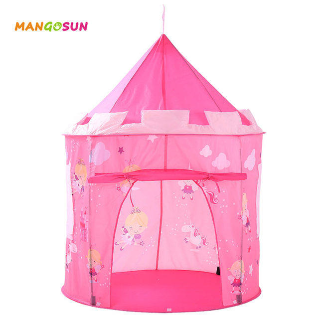 Kids Games Indoor Play Tent Folding Toy House Cute Pattern Teepee ...