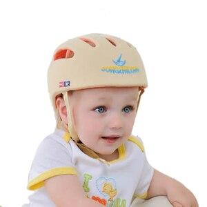 Image 3 - 아기 안전 학습 도보 모자 anti collision 보호 모자 소년 소녀 부드러운 편안한 헬멧 머리 보안 보호 조절 가능