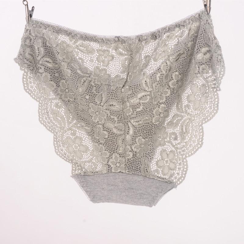 Новые женские Трусы Вискоза Кружевные Трусики Плюс Размер Прозрачный Underwear Ladies Intimates   XL 2XL 3XL Высокое Качество