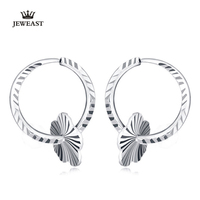 Pt999 Pure Gold Earring Real Platinum Solid Gold Earrings Good Nice Flower Upscale Trendy Classic Fine Jewelry Hot Sell New 2018