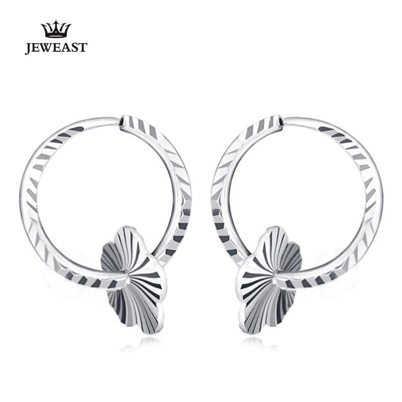Pt999 or pur boucle d'oreille réel platine boucles d'oreilles en or massif bonne belle fleur haut de gamme à la mode classique Fine bijoux vente chaude nouveau 2018