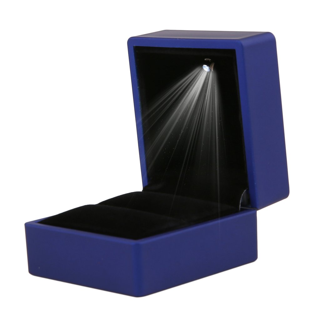 Creative Rings Box With LED Light Earring Ring Gift Box Wedding Engagement Ring Jewelry Display