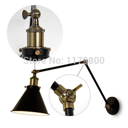 Retro Style Wall Mount Light Bed Reading Lamp Adjustable ...
