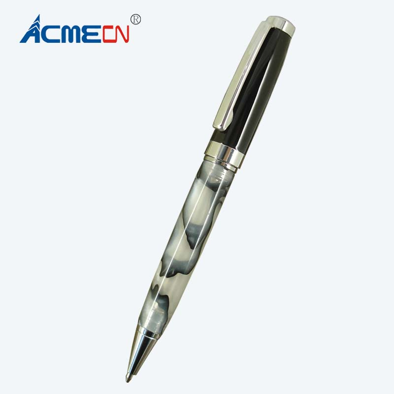 ACMECN MB style Metal Resin Ballpoint Pen Office and School Stationery Black Ball Pen for promotion Gifts White Acrylic PenACMECN MB style Metal Resin Ballpoint Pen Office and School Stationery Black Ball Pen for promotion Gifts White Acrylic Pen