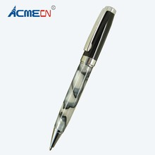 ACMECN MB style Metal Resin Ballpoint Pen Office and School Stationery Black Ball Pen for promotion Gifts White Acrylic Pen expression matchstick style plastic ballpoint pen white yellow