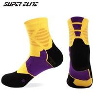 Basketball Socks (3 Pairs/lot) SUPER Elite/1012 Cotton Men Sports Outdoor Hiking
