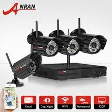 Anran 4ch h.264 nvr sistema cctv wireless 720 p cámara ip wifi hd nocturna por infrarrojos visson impermeable vigilancia seguridad para el hogar kit