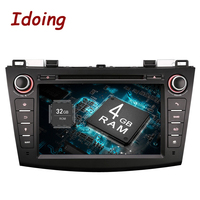 2Din For Mazda3 Steering Wheel Android Car DVD Multimedia Video Player HD Capacitive Touch Screen With