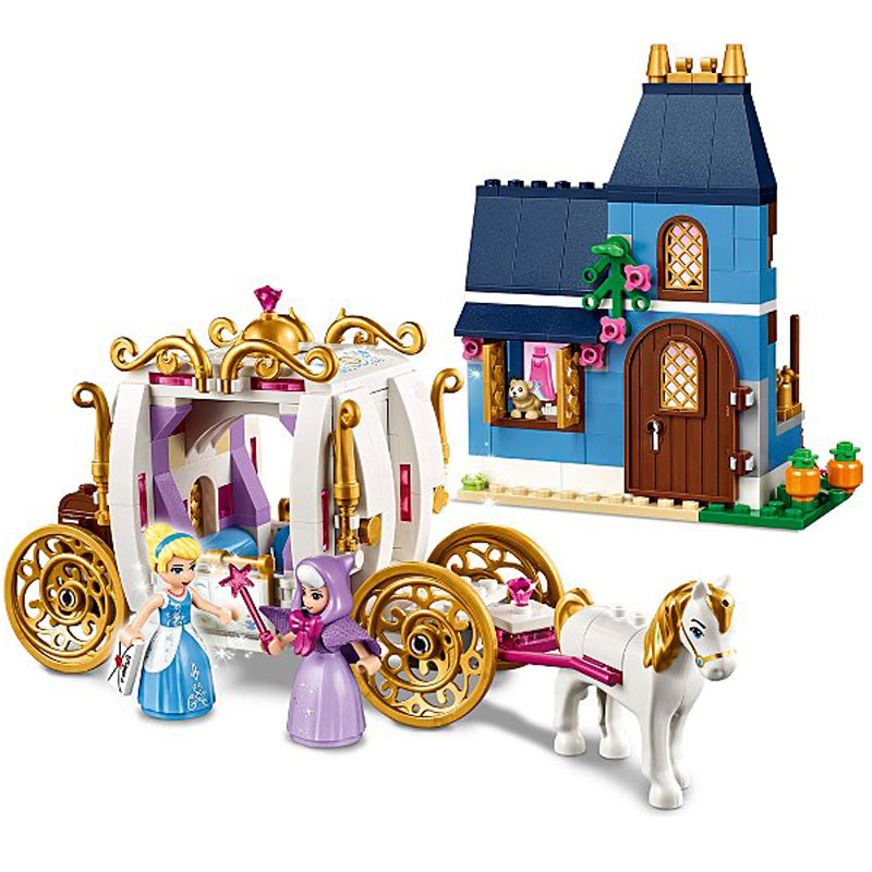 25009 Princess Series The Enchanted Evening Set 41146 Cinderella Building Blocks Bricks Funny Toys Kids Compatible with Legoe one enchanted evening