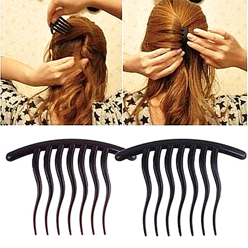 Makeup Wavy Tooth Insert Hair Combs Hairpins Bouffant Ponytail Maker Hair Clips Hairstyling Tools Accessories Grips   Headwear