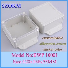 10 pcs/lot plastic case for electronics project box electronic plastic box waterproof enclosures box 120x168x55mm