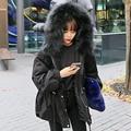[XITAO] NOVO inverno longo solto forma irregular hem faux fur regular completo manga com capuz zipper algodão feminino & parkas NHB-002