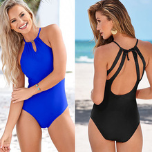 Thong Black 2018 Sexy One Piece Swimsuit Solid Female Women Fused Swimwear Backless White Brazilian May Bather Monokini XL black 2017 sexy one piece swimsuit solid may women fused push up swimwear female bather bandage brazilian beach monokini