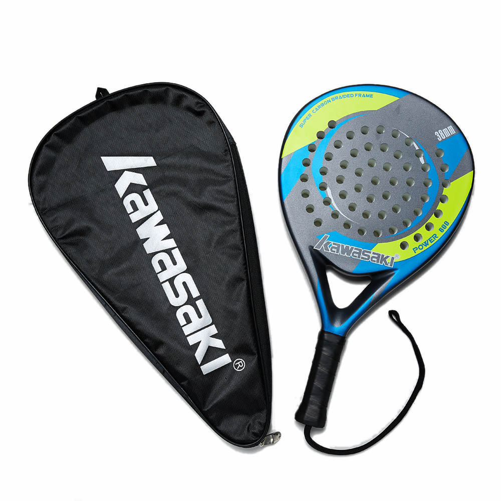 Original Kawasaki Brand Padel Tennis Racket Carbon Fiber Soft Eva Parts Of A Racquet Detailed Description And Diagram Paddle 3