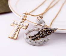 Fashion accessories cross women's design long necklace Factory Wholesale(China)