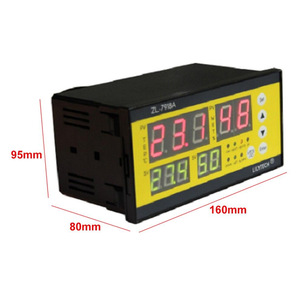Incubateur contrôleur Machine écloserie température humidité capteur automatique alarme LCD affichage numérique pièces multifonction ferme