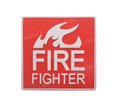 PVC/резиновые пожарные патч спасения военный крючок обратно Настроение Патчи медик Тактический эмблема аппликация армейские пожарный значк... ...