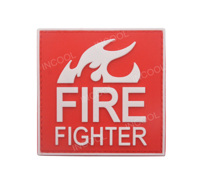 PVC/Rubber Fire Fighter Patch Rescue Military Hook Back Morale Patches Medic Tactical Em ...