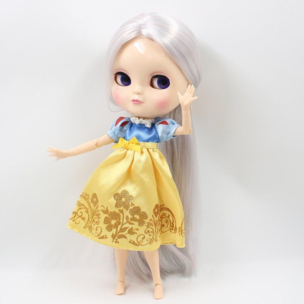 Бесплатная доставка Блит куклы ледяной licca тела 280BL6909/1010 розовый микс Голубой волос Серебряный большой груди Совместное тела 1/6 30 см игрушка ...