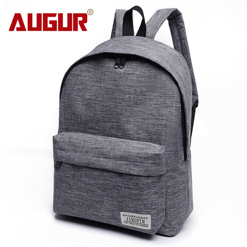AUGUR Canvas Men Women Backpack College High Middle School Bags For Teenager Boy Girls Laptop Travel Backpacks Mochila Rucksacks brand canvas men women backpack college high middle school bags for teenager boy girls laptop travel backpacks mochila rucksacks