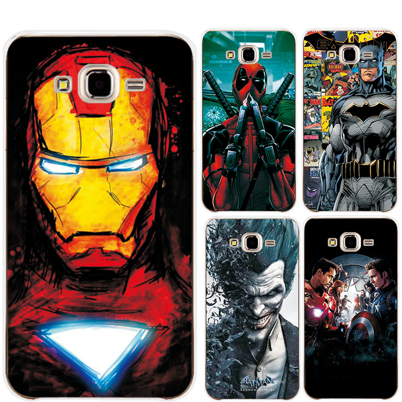 For Samsung Galaxy J3 2016 J320 J320F 5.0 Phone Case Cover Charming Marvel Avengers Captain America Shield Iron man Fundas image