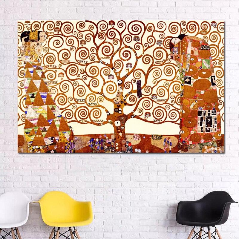Gustav Klimt Baum des Lebens Leinwand Malerei Wand Kunst Drucke ...