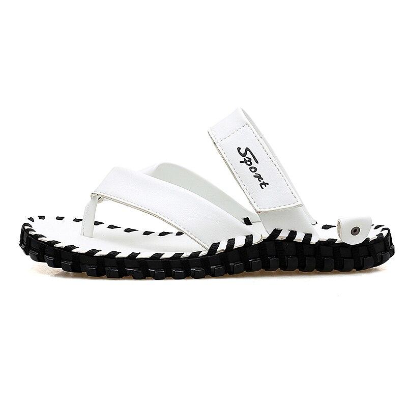 Hommes Pantoufle Sandales Black Cuir Nouvelle Pantoufles 2018 De Chaussures orange Mode D'été white Casual En Marque Luxe Plage RZIXF