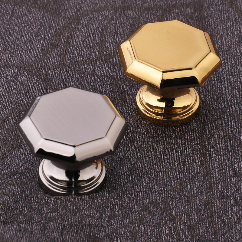 Single Hole 30mm Silver and gold zinc Alloy Cupboard Wardrobe Knob Drawer Door Handle Pull  furniture handle drawer knobs simple modern door handle drawer cabinet pull wardrobe knobs brush finish gold and silver handles single hole 96 128mm
