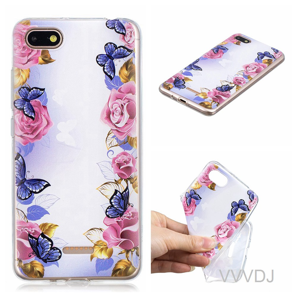 buy popular 4e38f 0189f US $2.72 9% OFF|For Xiaomi Redmi 6A red mi 6A back cover cute fashion  cartoon phone shell for xiao mi redmi6A redmi 6A back cover silicone  cover-in ...